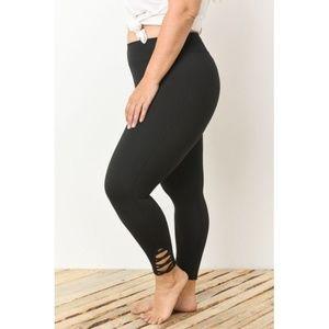 PLUS Lattice Strap Full Leggings